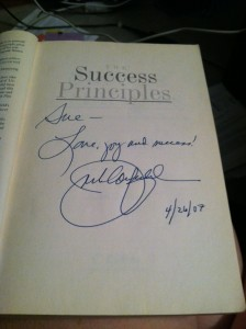 Jack Canfield Autograph